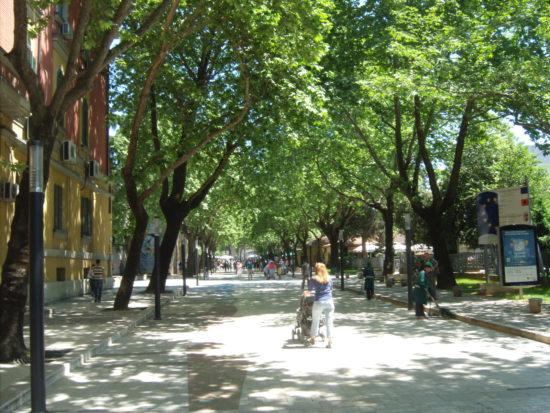 Foto: arquivo pessoal em Tirana na Albania.