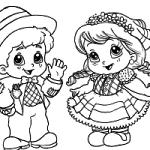 Imprima alguns desenhos em branco para as crianças colorirem